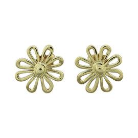 Tiffany & Co. 18K Yellow Gold Daisy Flower Stud Earrings