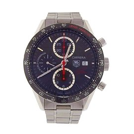 Tag Heuer Carrera CV201M.BA0794 Stainless Steel Chronograph Automatic Black 41mm Mens Watch