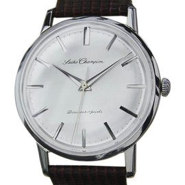 Seiko Champion Stainless Steel & Leather Manual 36mm Mens Watch 1960s