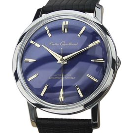 Seiko Gyro Marvel Stainless Steel & Leather Automatic 36mm Mens Watch 1960
