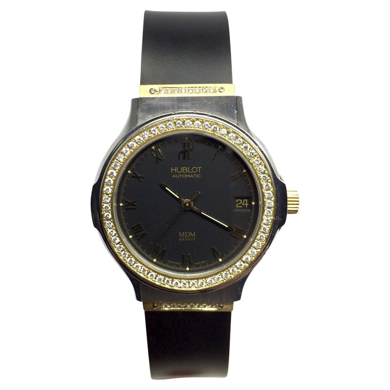 """Image of """"Hublot 18K Yellow Gold and Stainless Steel Automatic 36.5mm Mens Watch"""""""