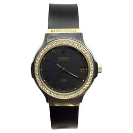 Hublot 18K Yellow Gold and Stainless Steel Automatic 36.5mm Mens Watch