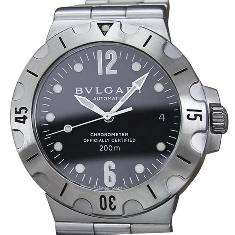 """Image of """"Bulgari SD 38 D 5261 Automatic Stainless Steel Luxury 38mm Mens Dress"""""""
