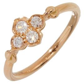 Cartier 18K Rose Gold Diamonds Ring Size 5.25