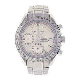 Omega Speedmaster Date 3211.30.00 Stainless Steel Silver Dial Automatic 40mm Mens Watch