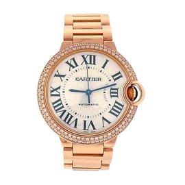 Cartier Ballon Bleu WE9005Z3 18K Rose Gold Diamonds Automatic Dress 36mm Womens Watch