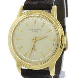 Patek Philippe Calatrava 2525 18K Yellow Gold Vintage 36mm Mens Watch