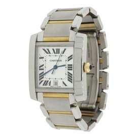 Cartier Tank Francaise 2302 18K Yellow Gold and Stainless Steel 28mm Unisex Watch
