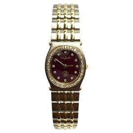 Chopard Monte-carlo 18K Yellow Gold & Stainless Steel Quartz 21mm Womens Watch