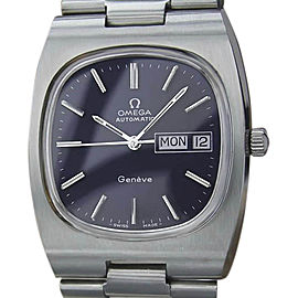 Omega Geneve Stainless Steel Automatic 35.5mm Mens Watch 1970s