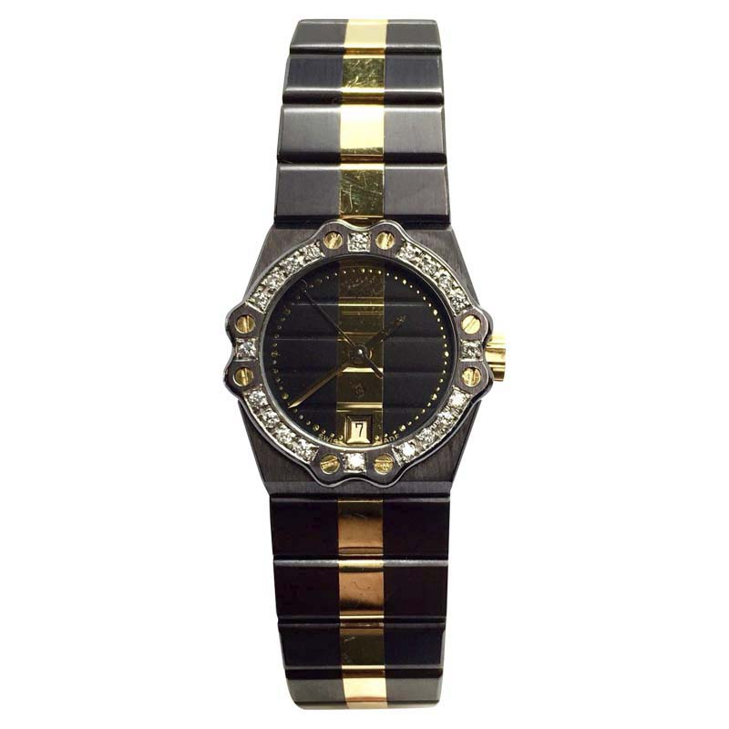 """Image of """"Chopard 18K Yellow Gold & Stainless Steel Quartz 24mm Womens Watch"""""""