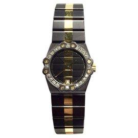 Chopard 18K Yellow Gold & Stainless Steel Quartz 24mm Womens Watch