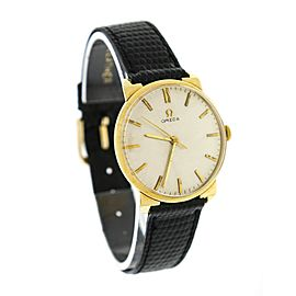 Omega 14K Yellow Gold Hand-Winding Vintage 34mm Mens Watch