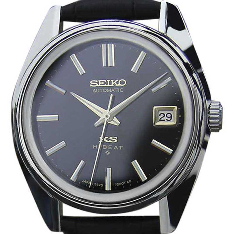 """Image of """"Seiko King Seiko 5625 7000 Stainless Steel & Leather Automatic 37mm"""""""