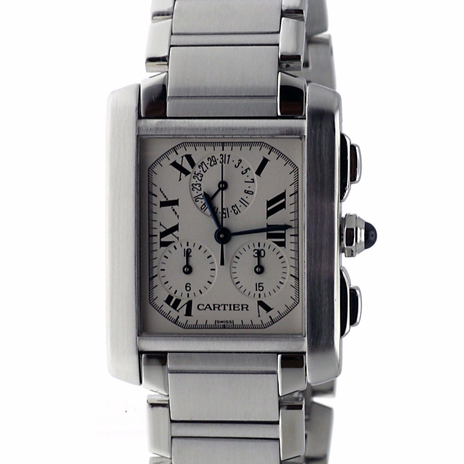 """Image of """"Cartier Tank Francaise 2303 Swiss Quartz Chronograph Stainless Steel"""""""