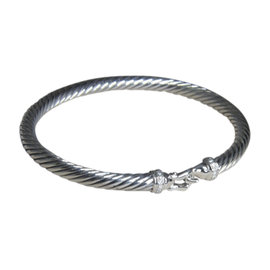 David Yurman 925 Sterling Silver with Diamond Bracelet