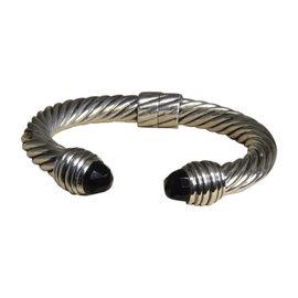 David Yurman 925 Sterling Silver with Onyx Cuff Bracelet