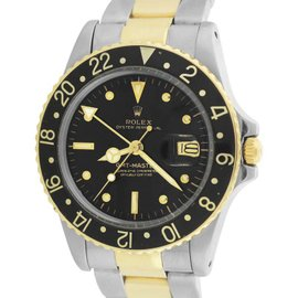 Rolex GMT-Master 16753 18K Yellow Gold / Stainless Steel 40mm Mens Vintage Watch