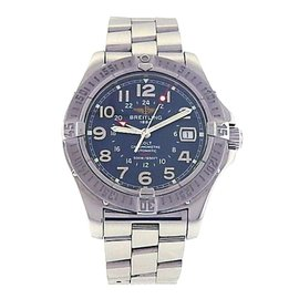 Breitling Colt GMT A32350 Stainless Steel with Blue Dial Automatic 40mm Mens Watch
