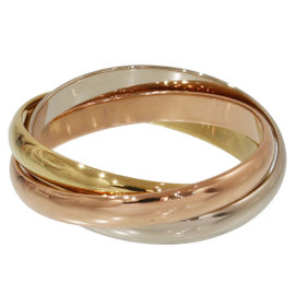 Cartier Trinity de 18K Yellow, White & Rose Gold Ring Size 10.75