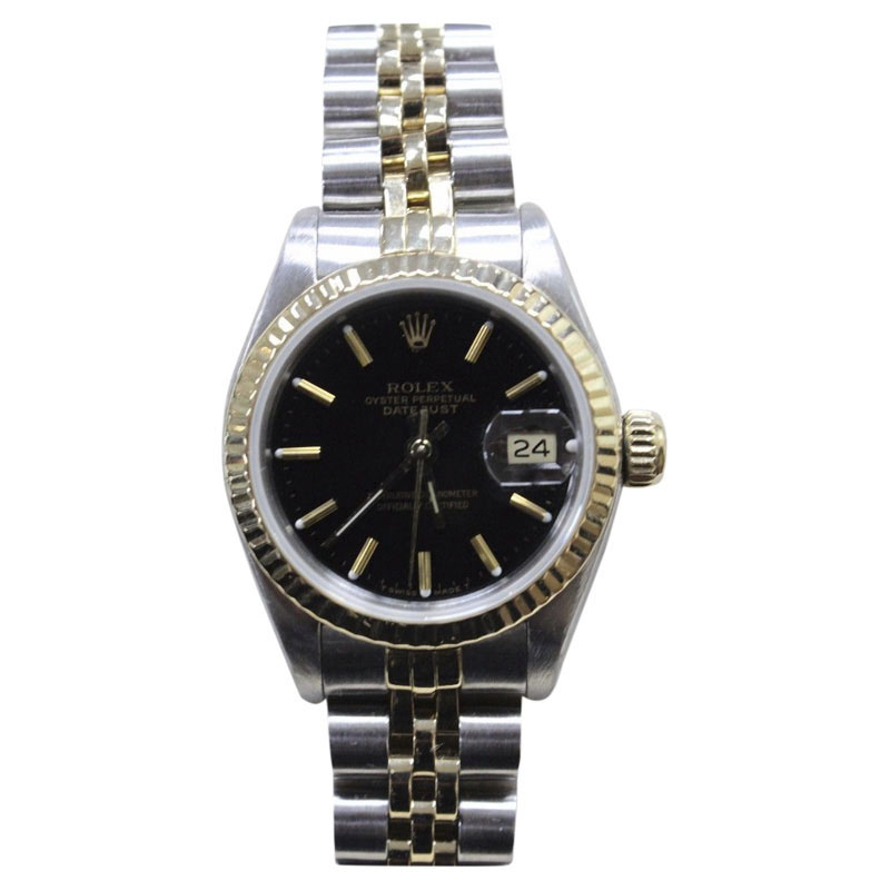 """Image of """"Rolex Datejust 69173 18K Yellow Gold & Stainless Steel Black Dial"""""""