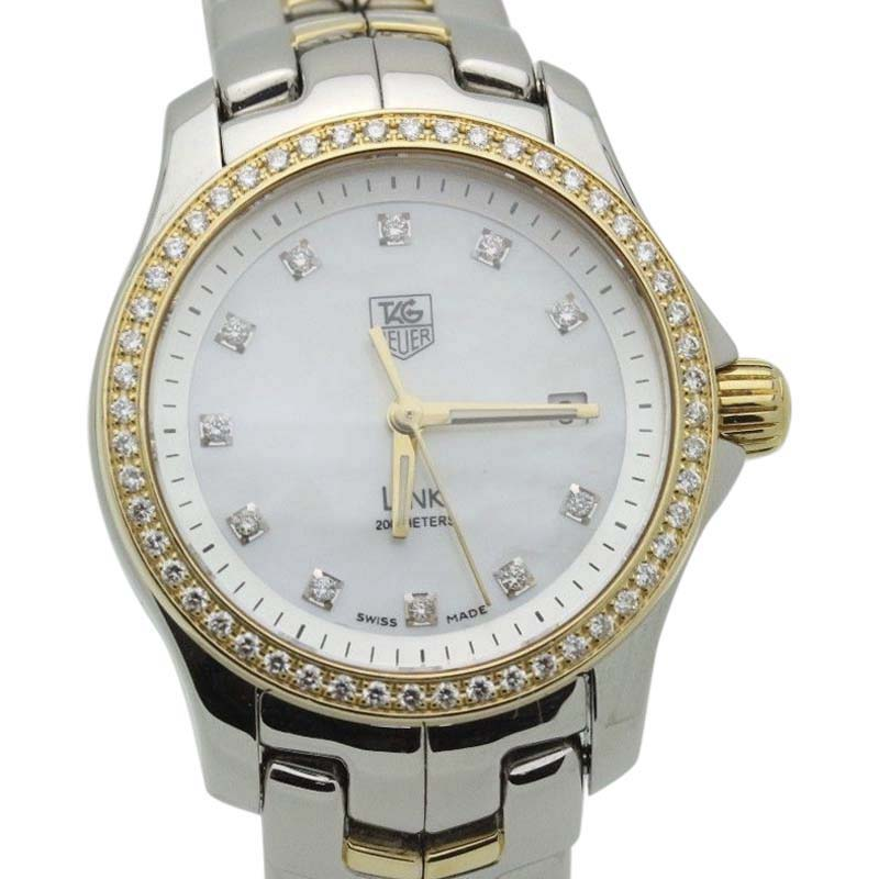 """Image of """"Tag Heuer Link Wjf1354 18K Yellow Gold & Stainless Steel 27mm Womens"""""""