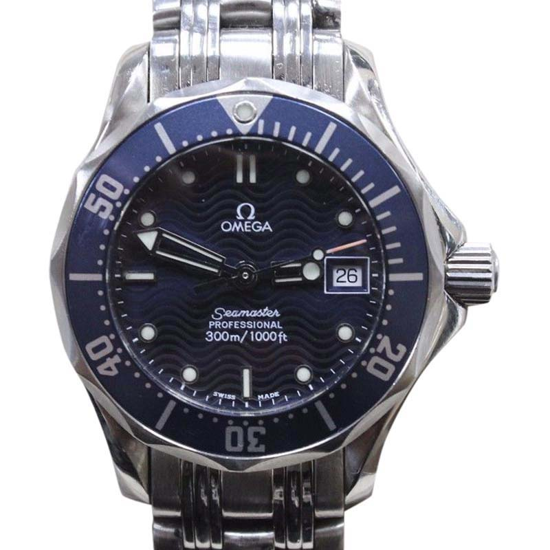 "Image of ""Omega Seamaster 2583.80 Stainless Steel & Blue Dial 28mm Mens Watch"""