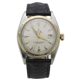 Rolex Datejust 6105 18K Yellow Gold & Stainless Steel Vintage 36mm Mens Watch