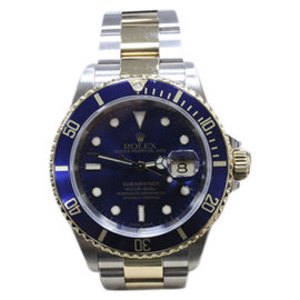 Rolex Submariner 16613 18K Yellow Gold & Stainless Steel Blue Dial 40mm Mens Watch