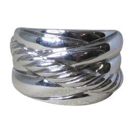 David Yurman Wide Crossover 925 Sterling Silver Ring Size 6.5