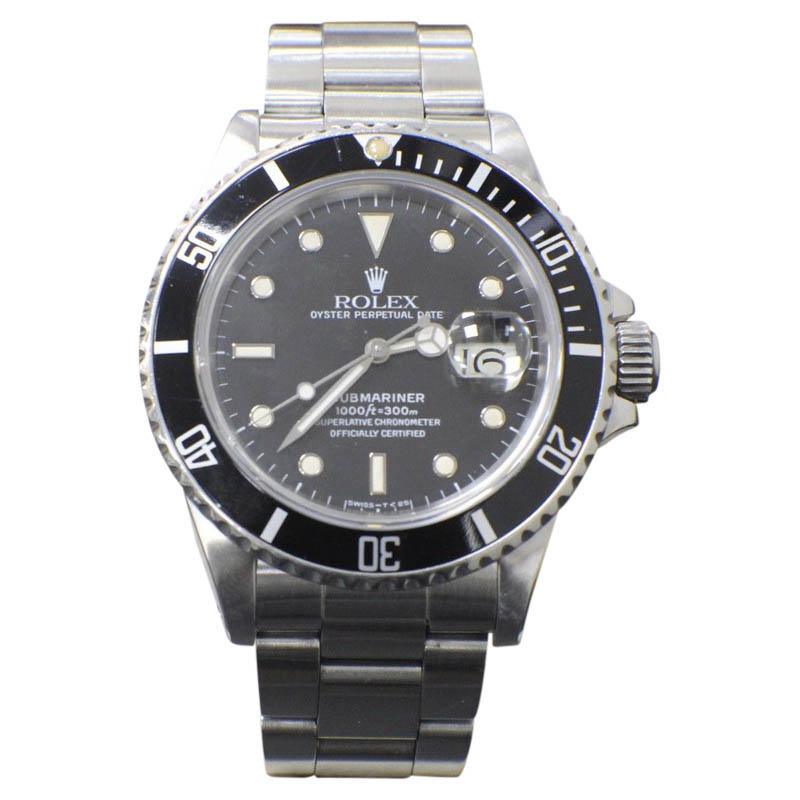 """Image of """"Rolex Submariner 16800 Stainless Steel Automatic Vintage 40mm Mens"""""""