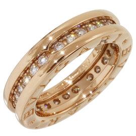 Bulgari B.Zero1 18K Rose Gold Diamonds Ring Size 3.5