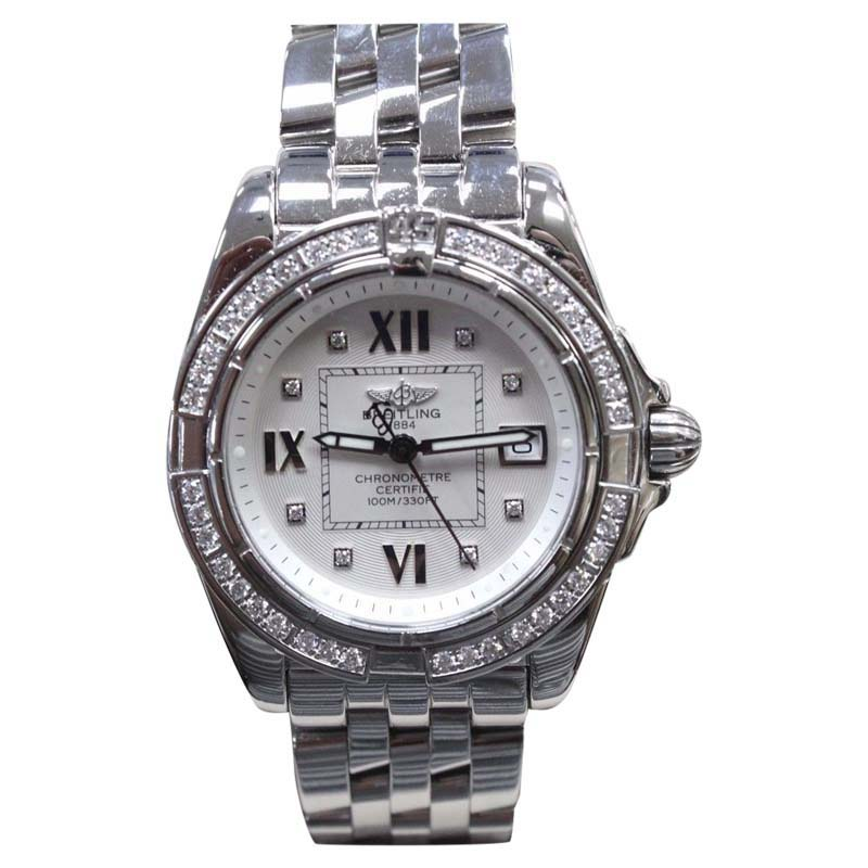 """Image of """"Breitling Galactic A71356 Stainless Steel Diamond Dial & Bezel 32mm"""""""