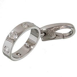 Cartier Baby Love 18K White Gold Diamond Charm Pendant