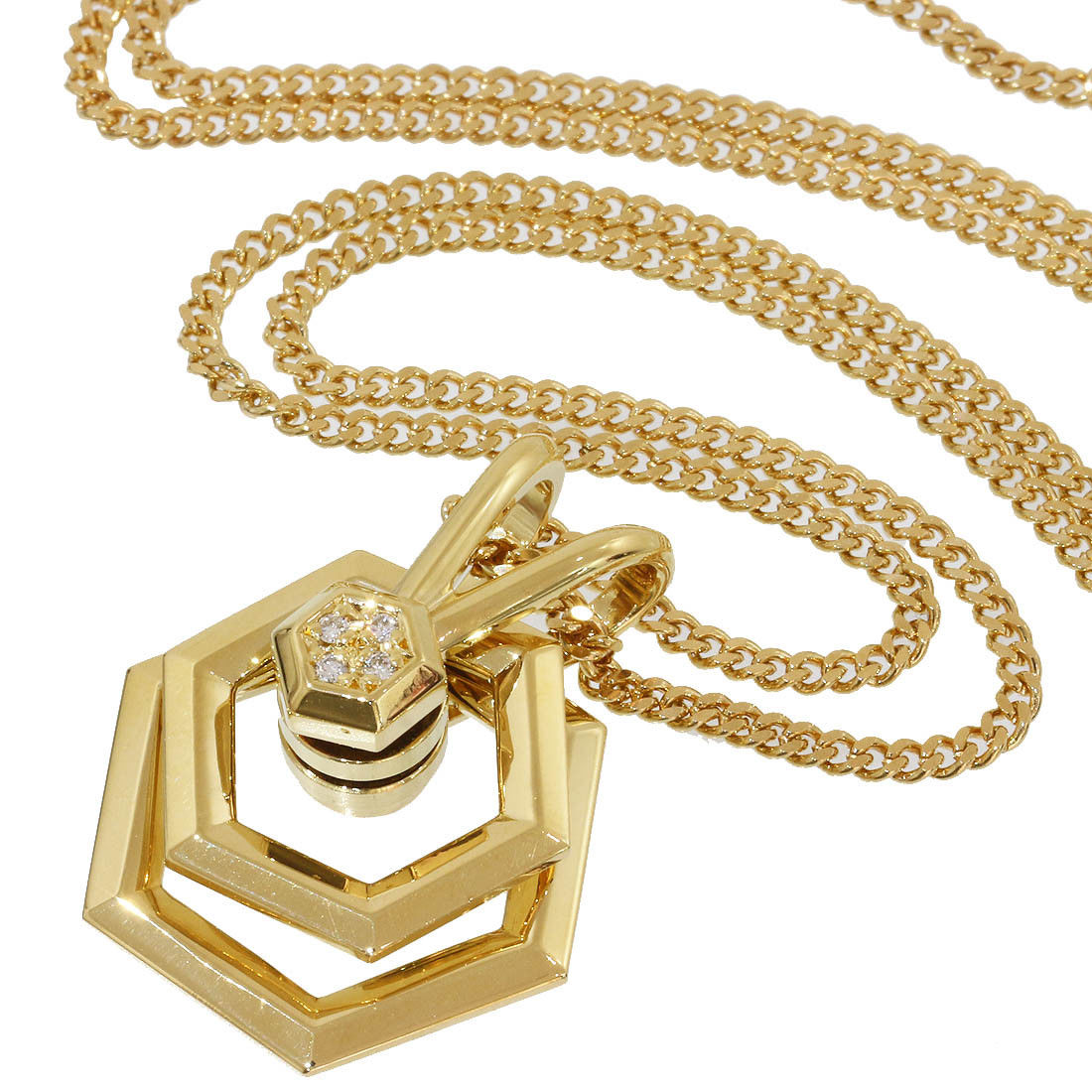 "Image of ""Waltham 18K Yellow Gold with Diamonds Pendant Necklace"""