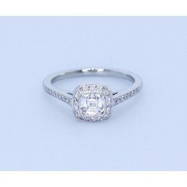 Tiffany & Co. Platinum with 0.66ct Cushion Diamond Legacy Engagement Ring Size 5.5