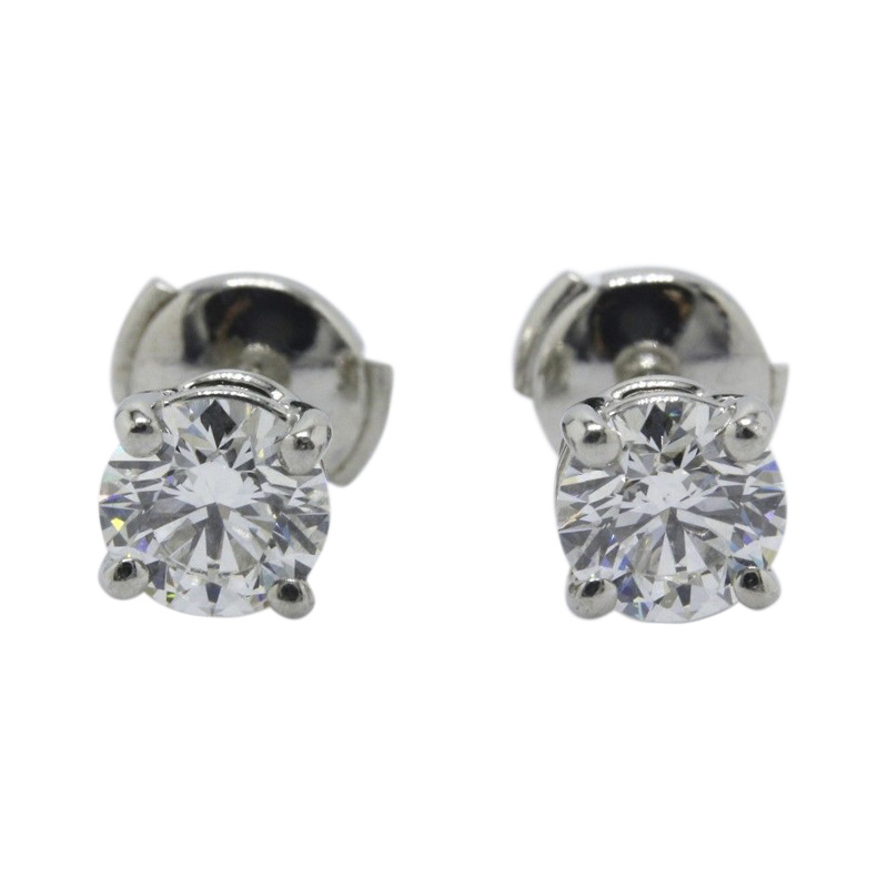 "Image of ""Tiffany & Co. 950 Platinum with 2.02ct Round Brilliant Diamond Stud"""