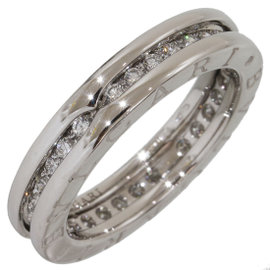 Bulgari B.ZERO1 18K White Gold with Diamond Band Ring Size 6