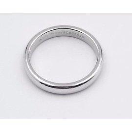 Tiffany & Co. Platinum Classic Wedding Band Ring Size 4.25