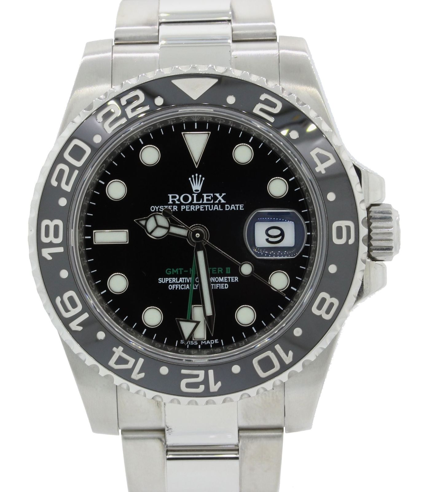 "Image of ""Rolex GMT Master II 116710 Stainless Steel Ceramic Black 40mm Mens"""
