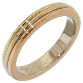 Cartier 18K Pink & White & Yellow Gold Trinity Wedding Band Ring Size 3.5