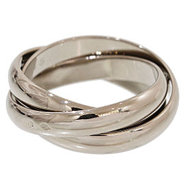 Cartier Trinity de 18K White Gold 3 Band Ring Size 6.25