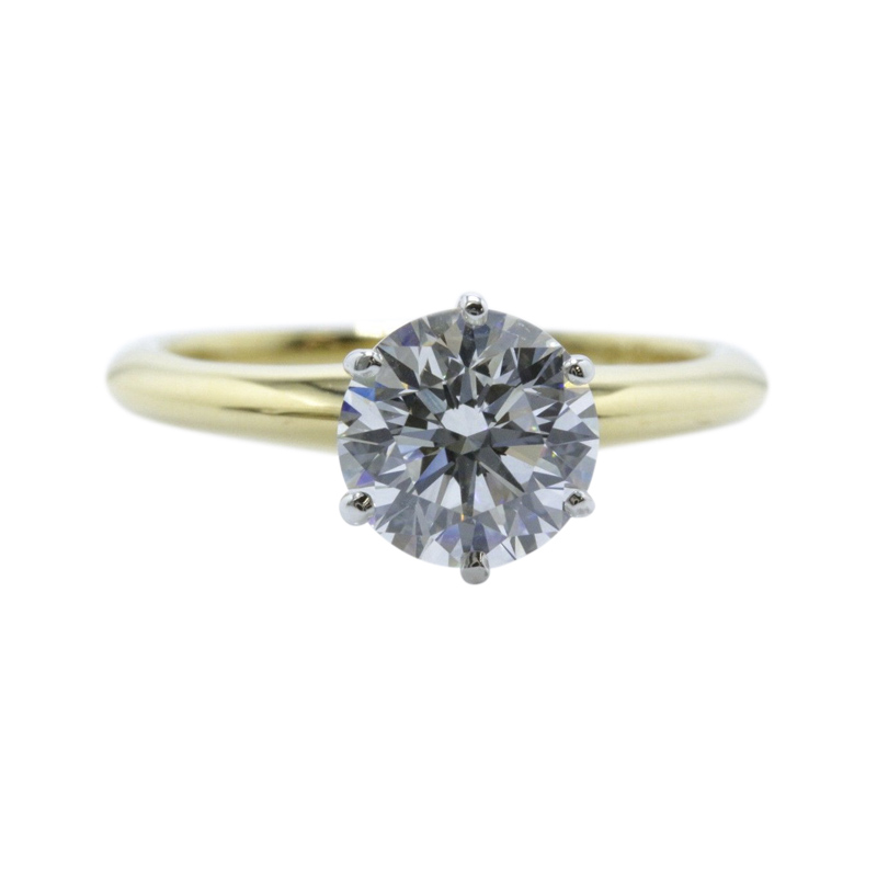 "Image of ""Tiffany & Co. 18K Yellow Gold with 1.52ct Round Brilliant Diamond"""