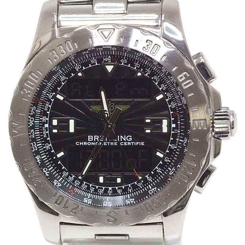 "Image of ""Breitling Airwolf A78363 Stainless Steel Quartz 43mm Mens Watch"""