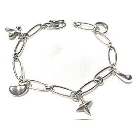 Tiffany & Co. Elsa Peretti Sterling Silver 5 Charm Bracelet