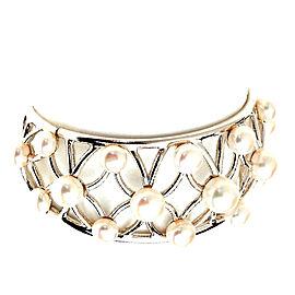Honora Sterling Silver Pearl Cuff Bracelet