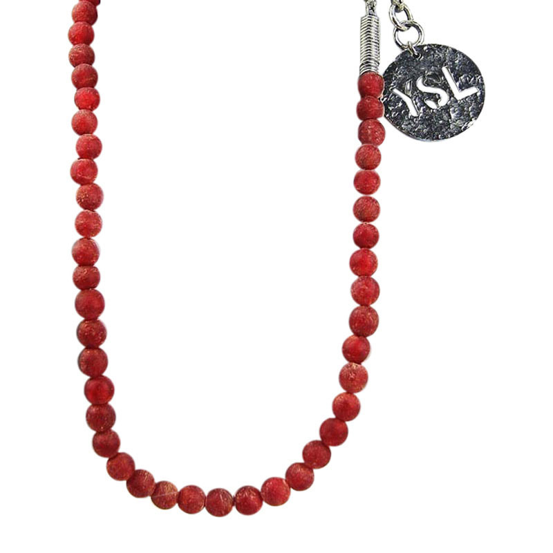 "Image of ""Yves Saint Laurent Handmade Bead Necklace"""