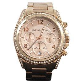 Michael Kors Rose Golden Stainless Steel Blair Glitz Watch