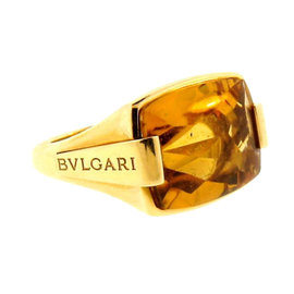 Bulgari 18K Yellow Gold & Citrine Ring