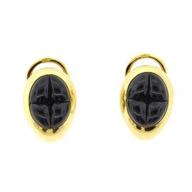Pomellato 18K Yellow Gold & Garnet Earrings